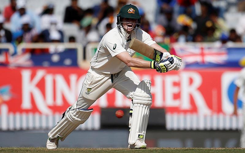 Australia's Steven Smith plays a shot. Photo: Reuters