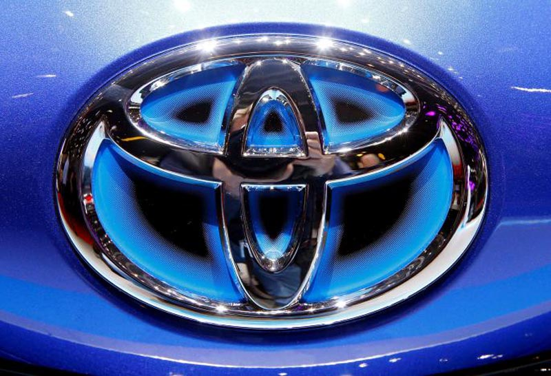 FILE PHOTO: The Toyota logo seen during the 87th International Motor Show at Palexpo in Geneva, Switzerland March 6, 2017. Photo: Reuters