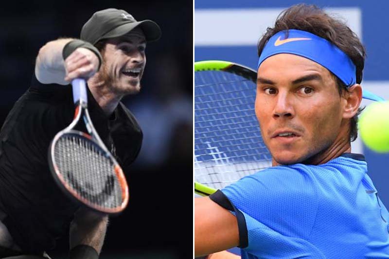File: Andy Murray (left) and Rafael Nadal. Photos: Reuters