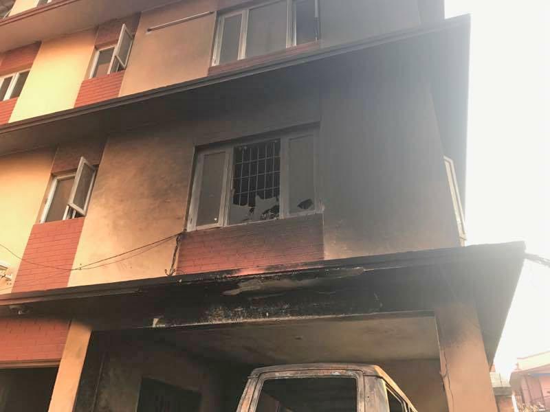 The priest's building was also affected. Photo: Ignatius Rai/Facebook