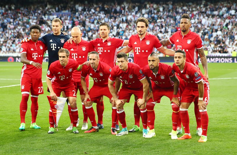 Bayern Munich football team. Photo: Reuters