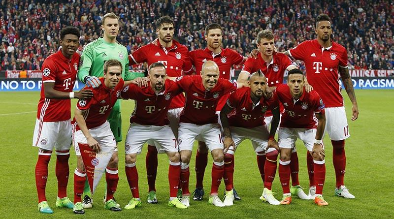 Bayern Munich team. Photo: Reuters