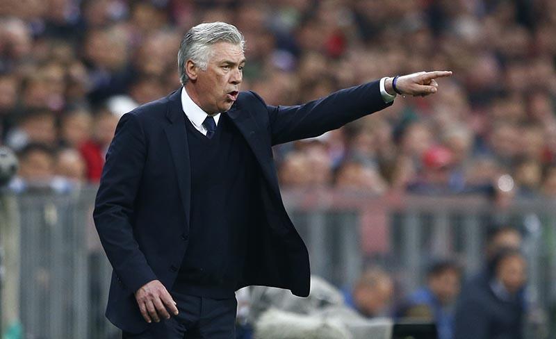 Bayern Munich coach Carlo Ancelotti  gestures. Photo: Reuters