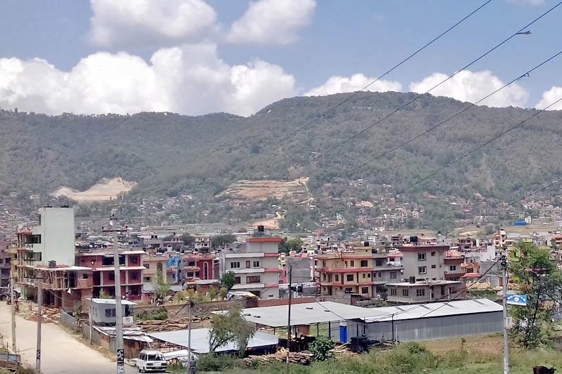 A view of Chandragiri Municipality, on the western outskirts of Kathmandu, on Wednesday, April 26, 2017. Photo: Mausam Shah Nepali