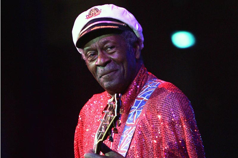 FILE - In this Saturday, May 30, 2009 file photo, Chuck Berry performs at The Domino Effect, a tribute concert to New Orleans rock and roll musician Fats Domino, at the New Orleans Arena in New Orleans. Photo: AP
