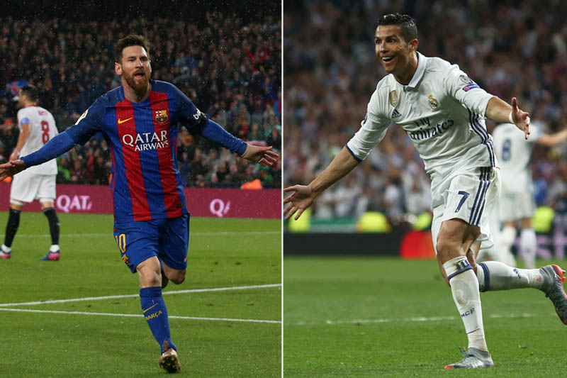 Barcelona's forward Lionel Messi (left) and Real Madrid's forward Cristiano Ronaldo. Photos: Reuters
