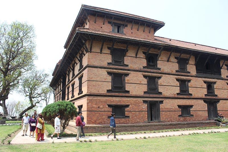 The domestic tourists visit Gorkha Museum in Gorkha district, on Saturday, April 15, 2017. Photo: RSS