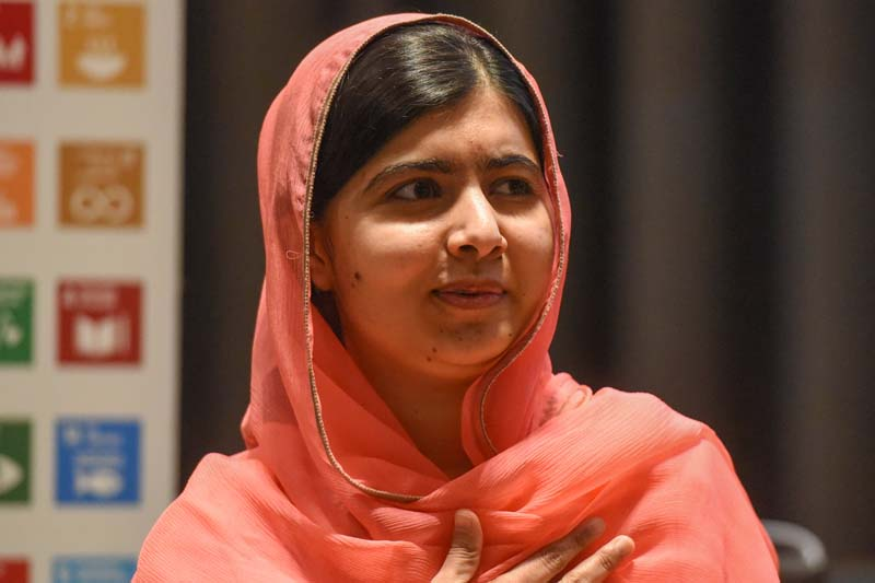 Malala Yousafzai attends a ceremony after being selected a United Nations messenger of peace in New York, NY, April 10, 2017. Photo: Reuters