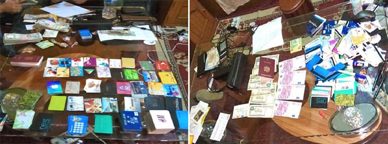 Materials seized from Moldovan ATM hackers. Photo: Nepal Police's Central Investigation Bureaun