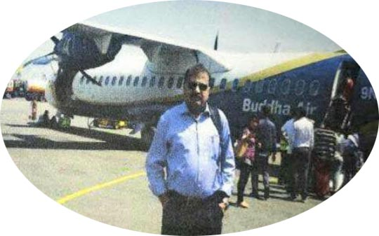 Mohammad Habib at Bhairahawa Airport
