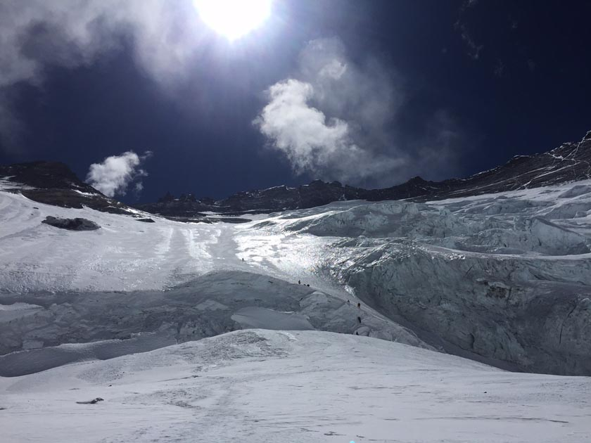 Lhotse South Face of Mt Everest as seen from Camp II. Photo: Tashi Sherpa/Himalayan Trailblazer