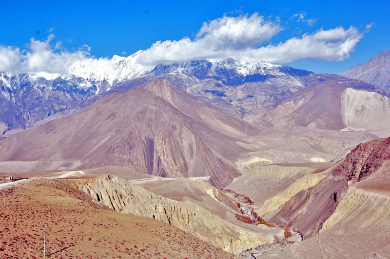 A spectacular view of rugged mountains in Mustang district as captured on Wednesday, April 19, 2017. Photo: RSS