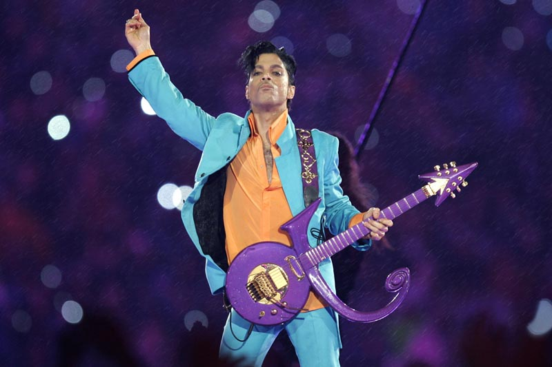 FILE - In this Feb. 4, 2007, file photo, Prince performs during the halftime show at the Super Bowl XLI NFL football game at Dolphin Stadium in Miami. Photo: AP