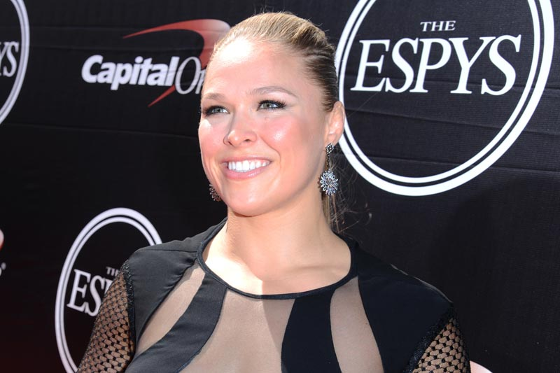 FILE - In this  July 15, 2015, file photo, Ronda Rousey arrives at the ESPY Awards at the Microsoft Theater in Los Angeles. Photo: AP