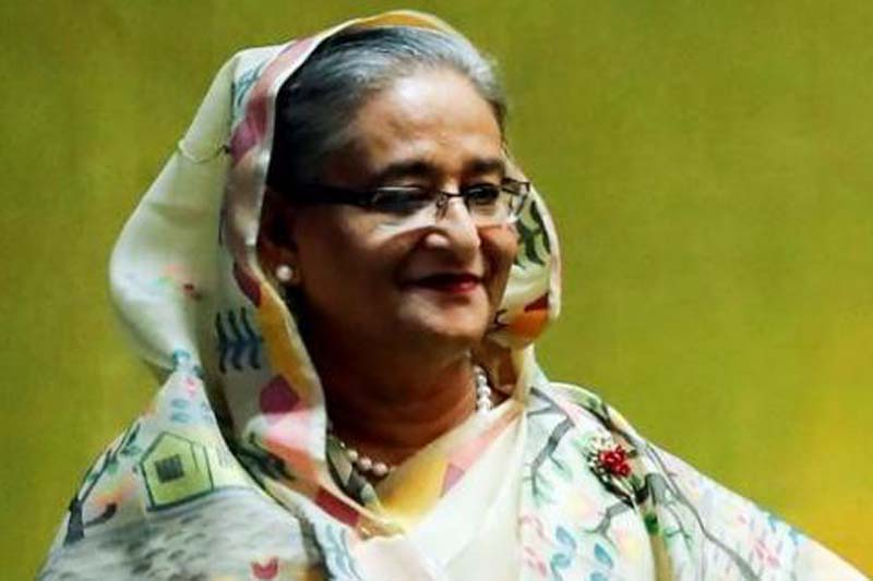 Bangladesh's Prime Minister Sheikh Hasina enters the General Assembly Hall to speak during the 71st United Nations General Assembly in Manhattan, New York, US September 21, 2016. Photo: Reuters