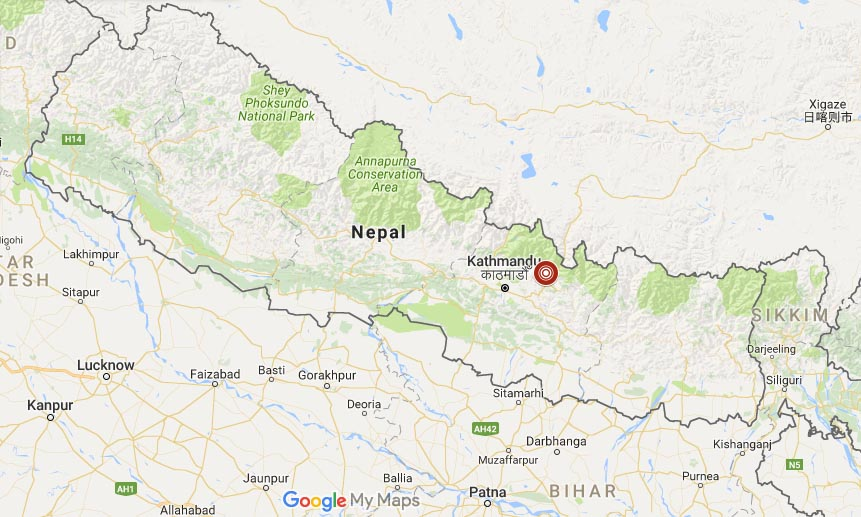 The aftershock recorded on the eve of Nepal earthquake's second anniversary was of local magnitude 4.2.