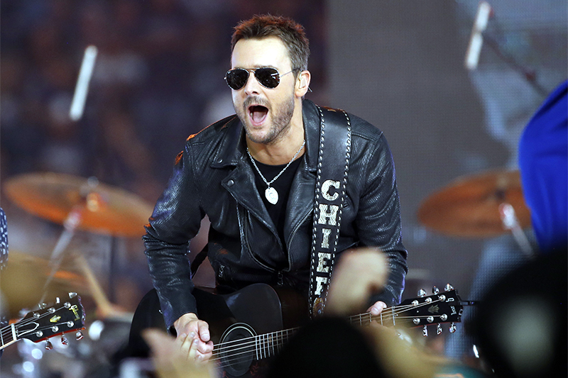 FILE - In this Nov. 24, 2016, file photo, country music singer Eric Church performs at halftime during an NFL football game between the Washington Redskins and Dallas Cowboys in Arlington, Texas. Photo: AP