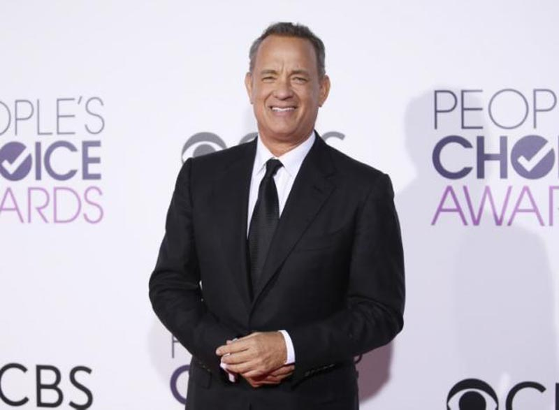 Actor Tom Hanks arrives at the People's Choice Awards 2017 in Los Angeles, California, US, on January 18, 2017. Photo: Reuters