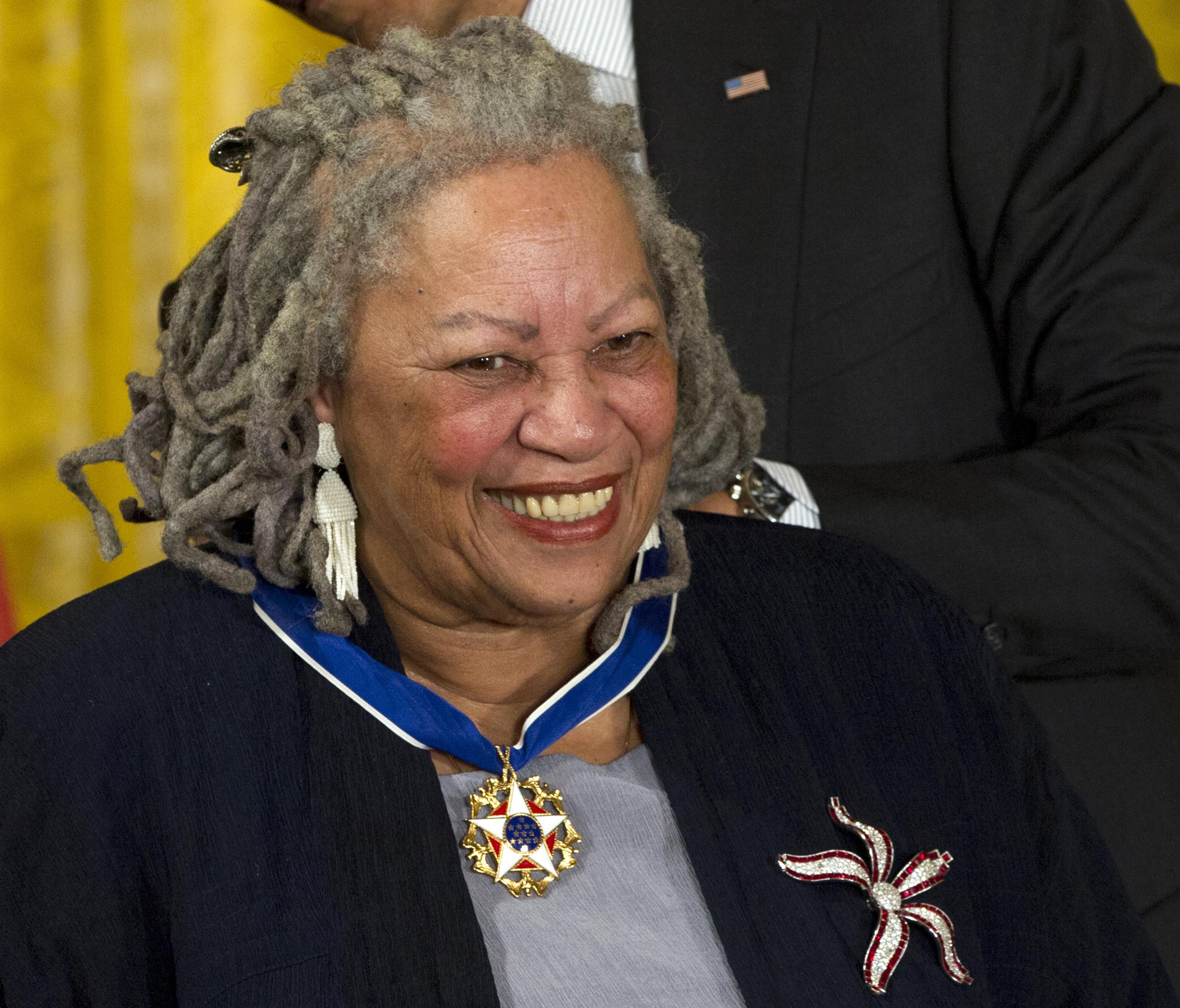 Author Toni Morrison receives her Medal of Freedom award during a ceremony in the East Room of the White House in Washington, on May 29, 2012. Photo: AP/File