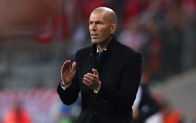 Real Madrid coach Zinedine Zidane. Photo: Reuters