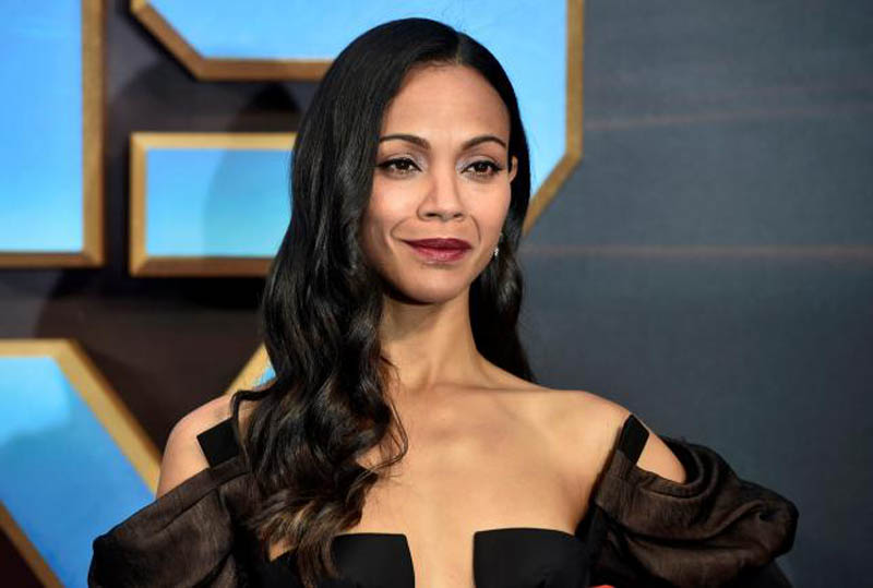 Actor Zoe Saldana attends a premiere of the film ''Guardians of the galaxy, Vol 2'' in London, on April 24, 2017. Photo: Reuters