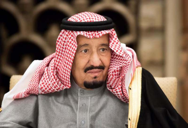 Saudi Arabia's King Salman bin Abdulaziz Al Saud, attends a banquet hosted by Shinzo Abe, Japan's Prime Minister, at the prime minister's official residence in Tokyo, Japan, on Monday, March 13, 2017. Photo: Reuters/Files
