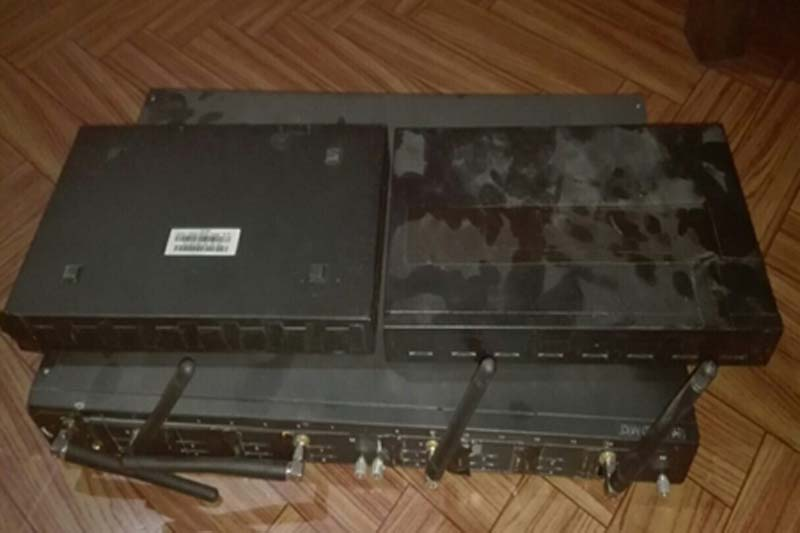 A device seized from the illegal VOIP call centre at Gokarneshwar. Photo: Nepal Police
