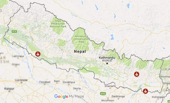 Temporary police job aspirants died in Banke, Morang and Khotang districts.