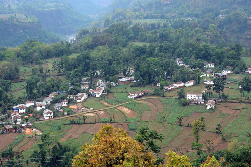 A view of Kaiya village in Balewa of Baglung district as captured on Monday, May 8, 2017. Photo: RSS
