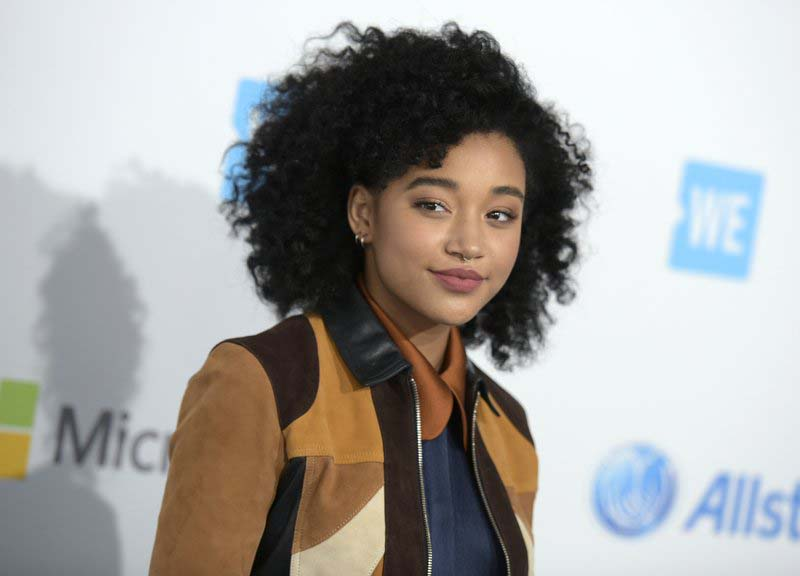 FILE - Amandla Stenberg arrives at WE Day California at the Forum in Inglewood, California, on April 7, 2016. Photo: AP