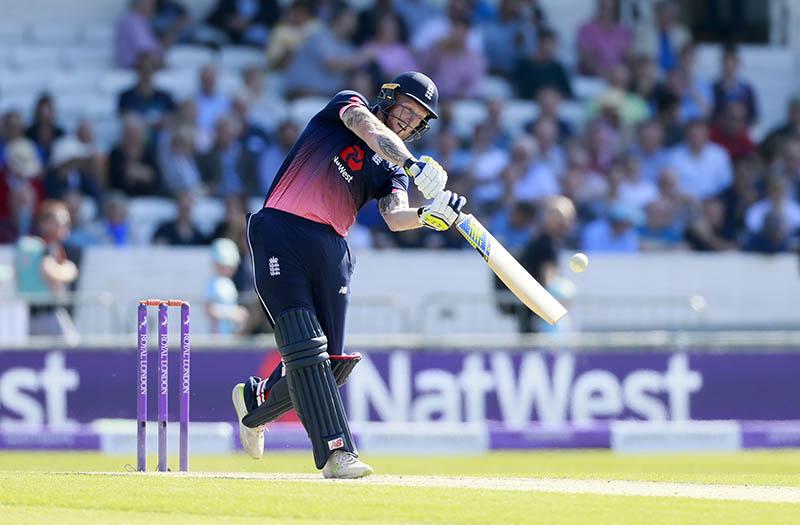 England's Ben Stokes bats. Photo: Reuters