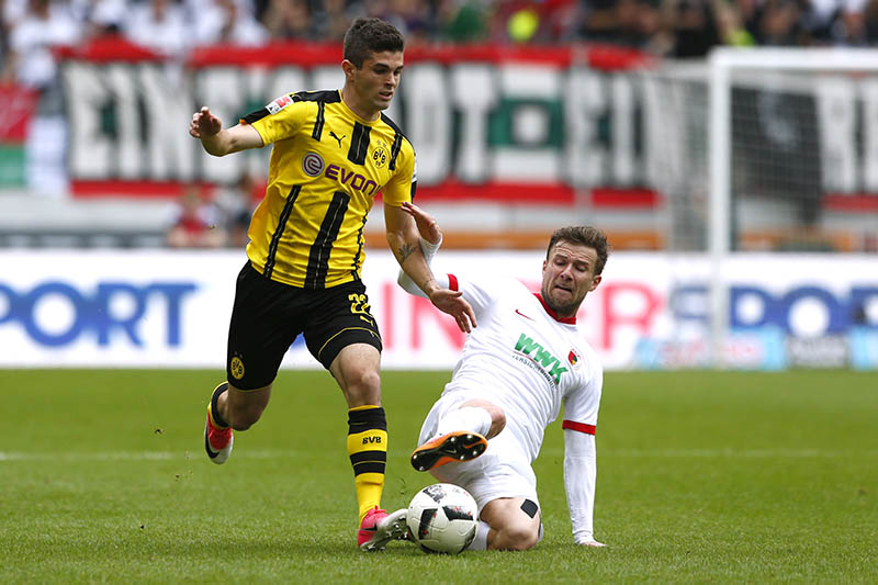Borussia Dortmund's Christian Pulisic in action. Photo: Reuters