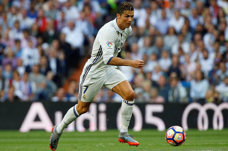 Real Madridu2019s Cristiano Ronaldo in action. Photo: Reuters
