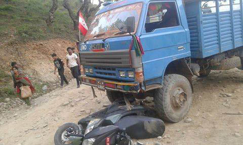 Dhading road accident. Photo: Keshav Adhikari