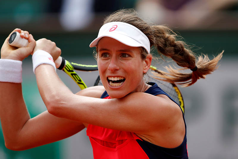 Great Britain's Johanna Konta in action during her first round match against Taiwans's Hsieh Su-wei. Photo: Reuters