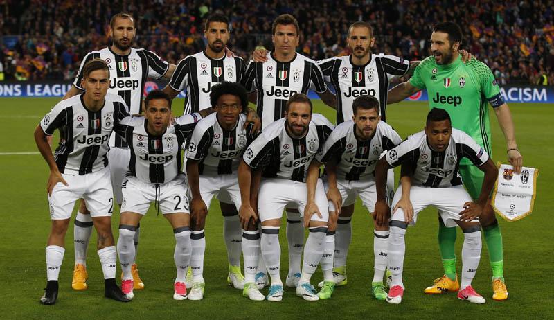 Juventus football team. Photo: Reuters