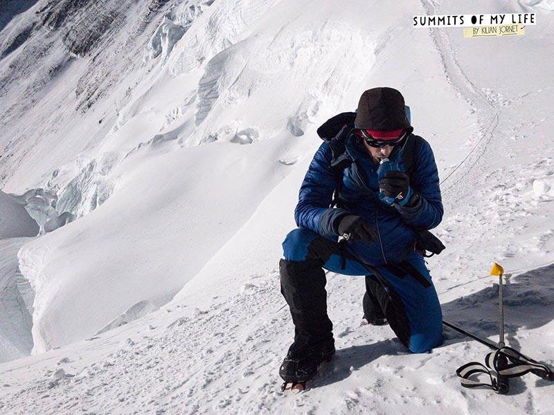 Spanish climber Kilian Jornet at the summit of Mt Everest on Sunday, May 21, 2017. Photo courtesy: Summits of My Life/Kilian Jornet Facebook