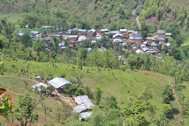 A traditional Lamachaur village in Bhimsen Rural Municipality in Gorkha district, on Tuesday, May 23, 2017. Photo: RSS
