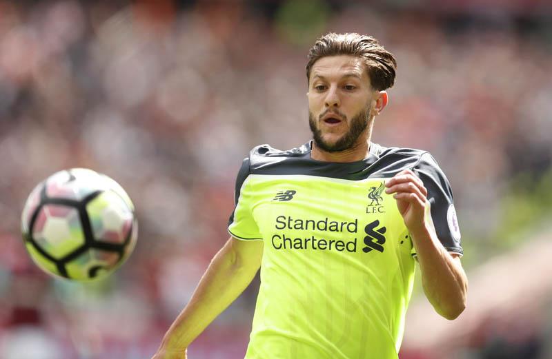 Liverpool's Adam Lallana in Action. Photo: Reuters