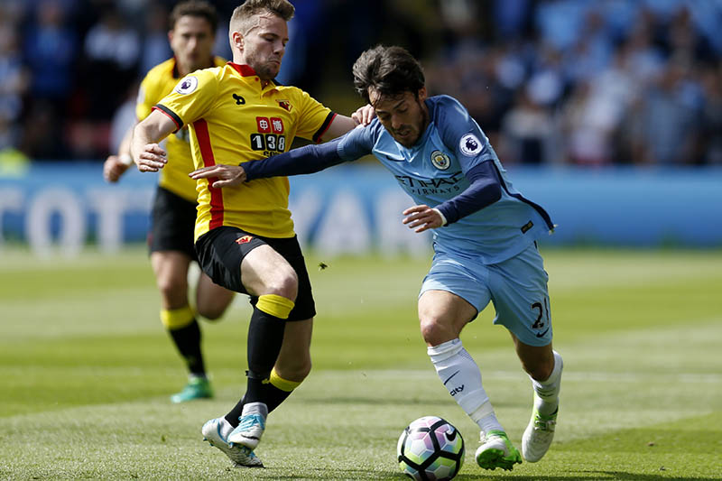 Manchester City's David Silva in action. Photo: Reuters