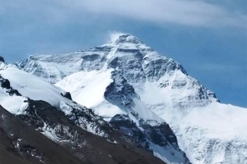 Mt Everest from Tibetan side. Photo Courtsey:  Arnold coster