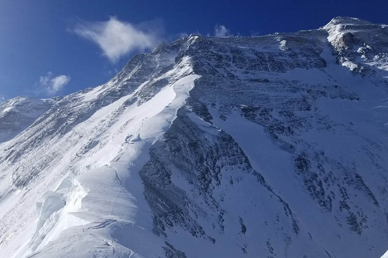 A view of Mt. Everest from north side. Courtesy: Adrian Ballinger