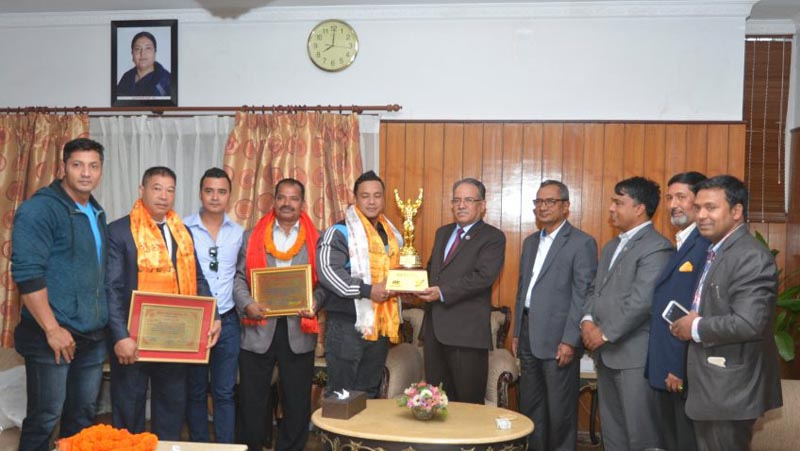 On May 10, 2017, Prime Minister Pushpa Kamal Dahal honoured Maheshwor Maharjan, who had won gold medal in the 50th Asian Body Building and Sports Championship held in Bhutan in September 2016.