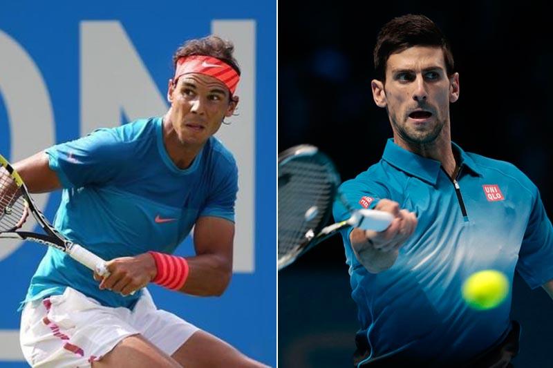 File: Rafael Nadal (left) and Novak Djokovic. Photos: Reuters