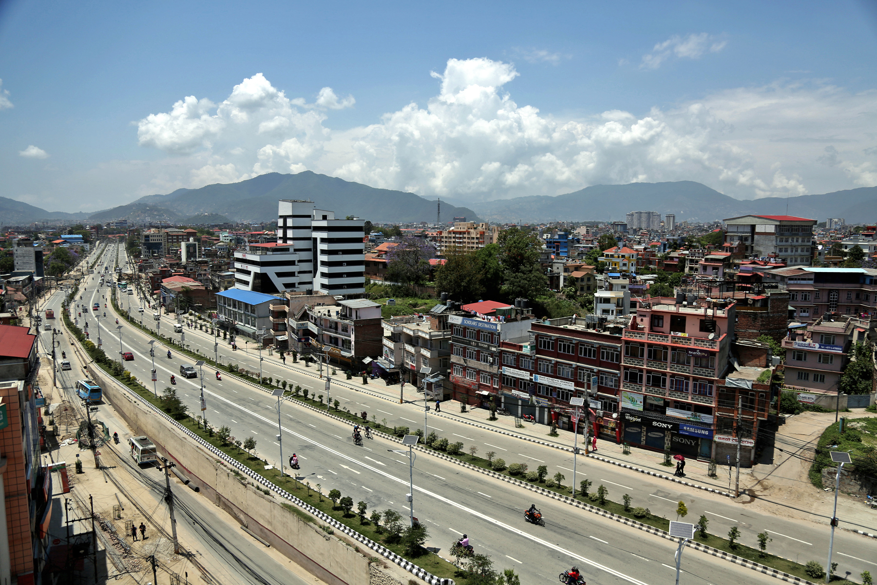 A view of road as seen from New Baneshwar of KMC-31, on Saturday, May 13, 2017. Photo: RSS