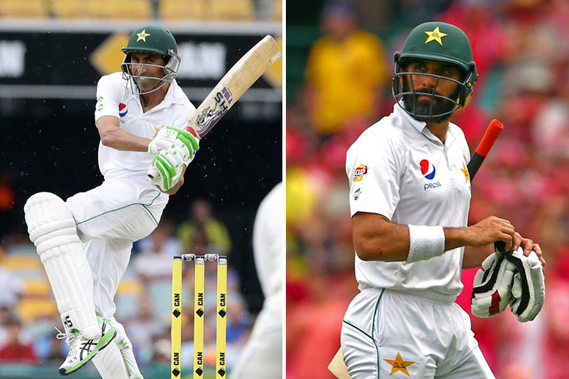 File: Pakistan's veteran batsmen Younis Khan (left) and Misbah-ul-Haq. Photos: Reuters