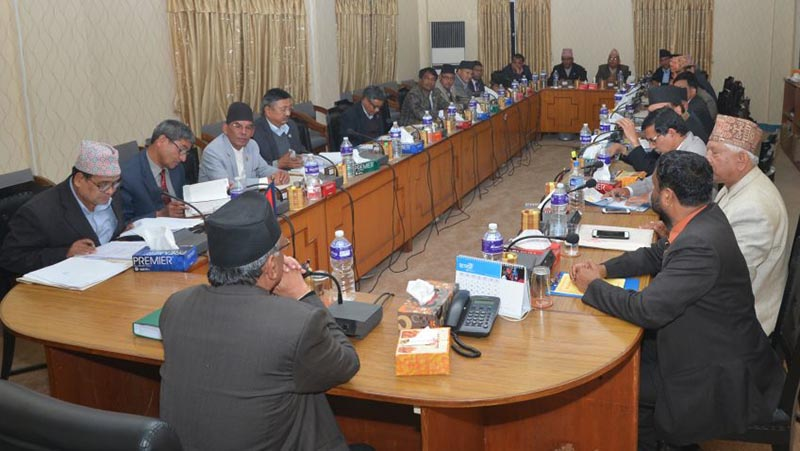 A meeting of Council of Ministers at the office of Prime Minister and Council of Ministers at Singhadurbar on May 18, 2017. Photo: PM's Secretariat