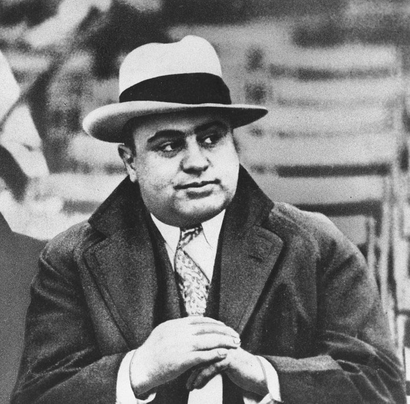 Chicago mobster Al Capone is seen at a football game in Chicago, on January 19, 1931. Photo: AP/ File