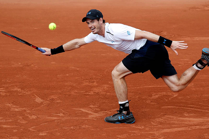 Great Britain's Andy Murray in action during his second round match against Slovakia's Martin Klizan. Photo: Reuters