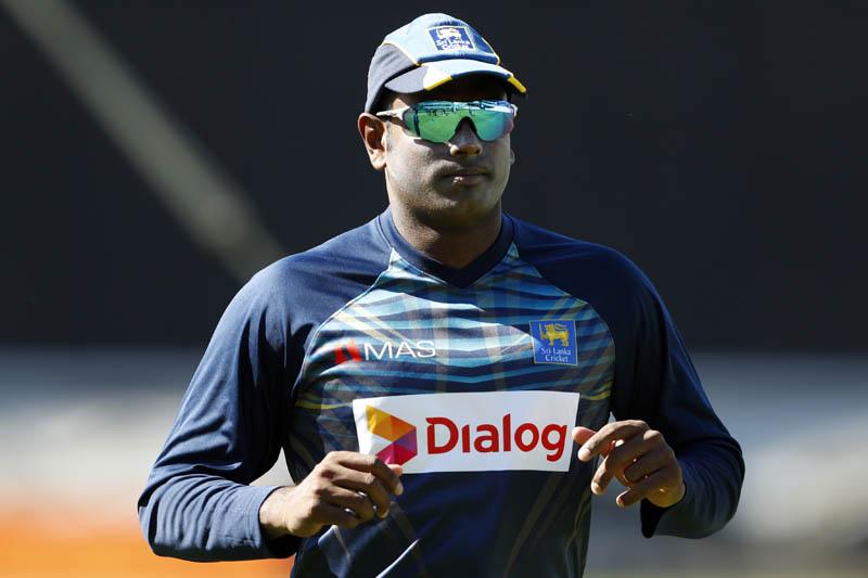 Sri Lanka's Angelo Mathews during nets session. Photo: Reuters